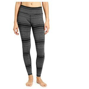 Athleta Small Striped Chaturanga Tight Leggings